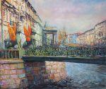 Картина по номерам Белоснежка «Грифоны Банковского моста…